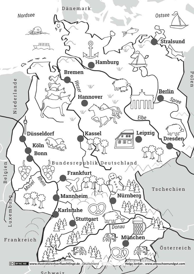Download als PDF: Deutschland – Deutschlandkarte – Jordan