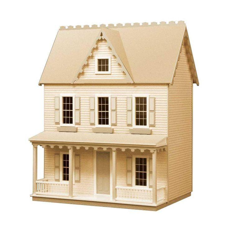 Vermont Farmhouse Jr Dollhouse Kit Dollhouse Kits Doll