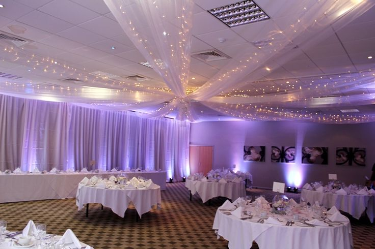 Ceiling Swags In White Organza With Fairy Lights We Also