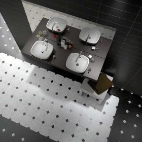 Mejores 203 imgenes de tiles en pinterest azulejos cuartos de 50 black white octagon tiles malvernweather Choice Image
