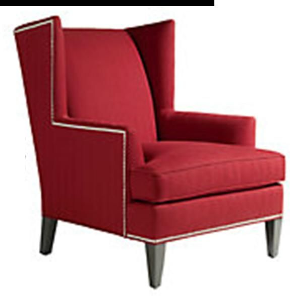 red ethan parker wing chair ethan allen furniture