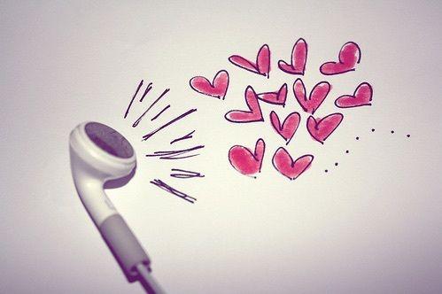 grafika music, love, and heart