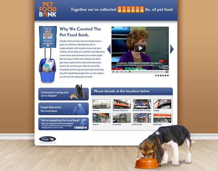 Pet Food Bank website.