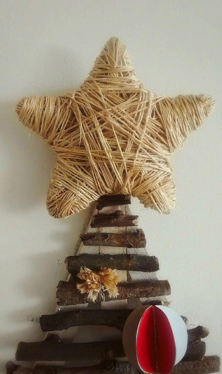Estrella fique rústica para árbol de navidad
