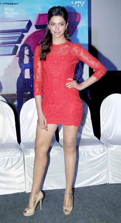 Little Red Dress - Deepika Padukone
