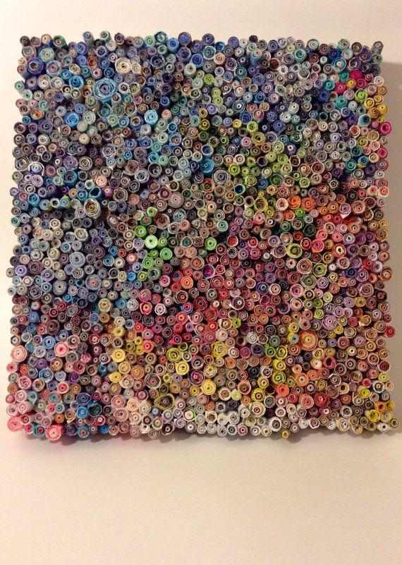 Rolled Magazine Art by RevelGifts on Etsy