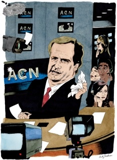 """Link to New Yorker article -   Broken News: The artificial intelligence of """"The Newsroom.""""  by Emily Nussbaum"""