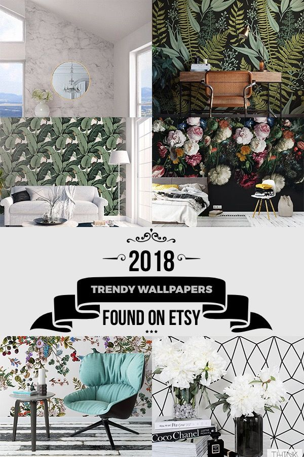 Trendy Wallpapers for 2018 from Etsy