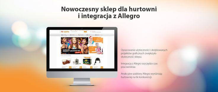 Nowoczesny sklep dla hurtowni i integracja z Allegro. #migomedia #sklepinternetowy #sklep_internetowy #esklep