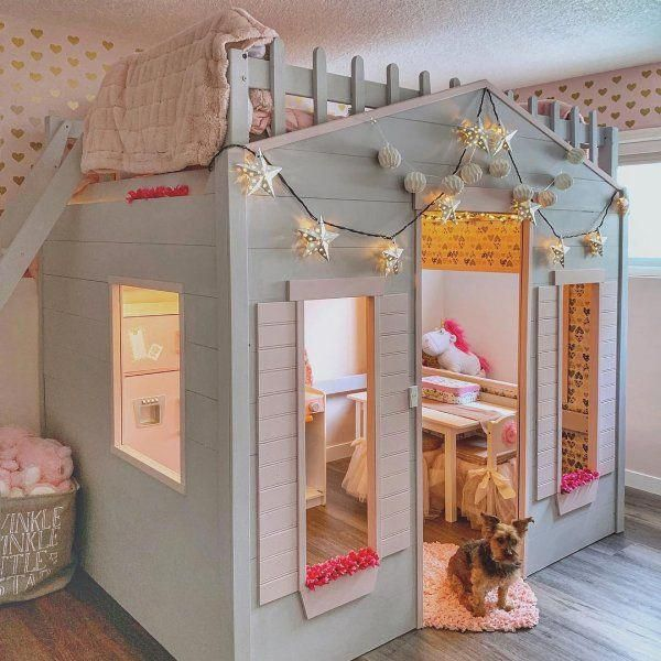 Playhouse Loft Bed Pottery Barn Kids Kidsbedroomideas Girls