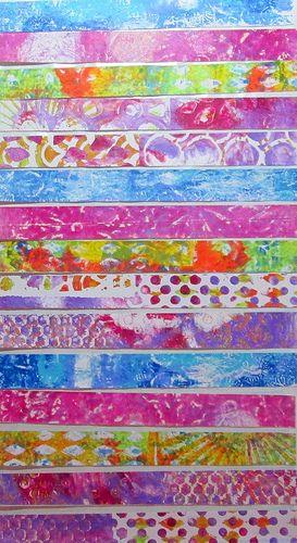 Washi Tape Gel Prints