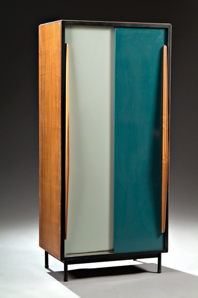 willy van der meeren petite cabinet for tubax c1952. Black Bedroom Furniture Sets. Home Design Ideas