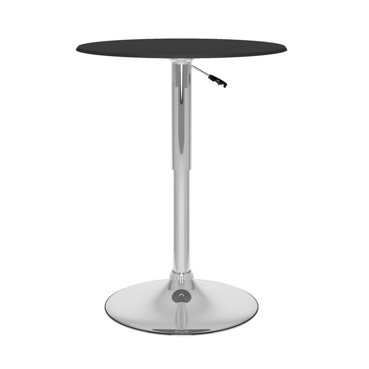 Lovely CorLiving Adjustable Height Leatherette Top Round Bar Table (CorLiving  T 402 VPD Adjustable