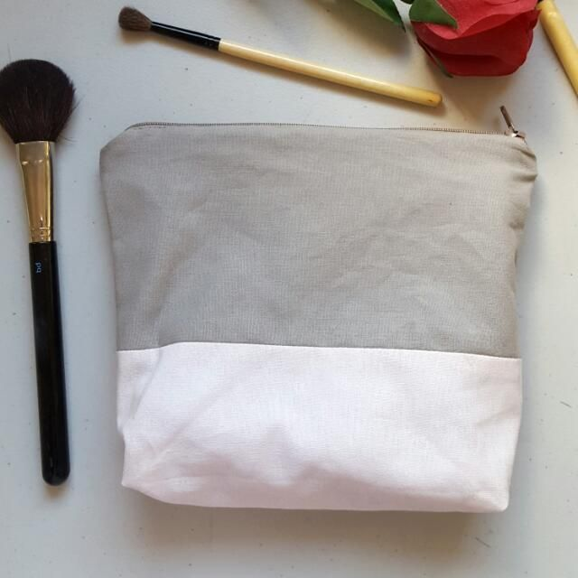 Buy Make Up Bag - HANDMADE in Sydney,Australia. #HAPPYEASTER   HANDMADE Make Up Bag Brand: Made by myself in SYDNEY  - Cotton outside - Satin lining - Fits a lot of things !  - Can use it for an Chat to Buy