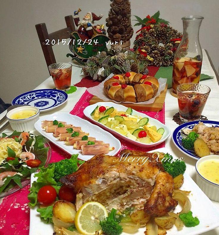 """""""2015.12.24(木) Xmasイブ ・ ・ 夜勤明けだから明日… と、思っていた#クリスマスごはん パンと炊き込みごはんの仕込み、丸鶏の解凍だけ始めてちょっとおやすみ ・ 夕方、目覚めたら長女からのLINE ・ 「今日の#Xmasごはん なぁに❓  バイト、ラストまでだけどごはん楽しみに頑張る」…"""""""