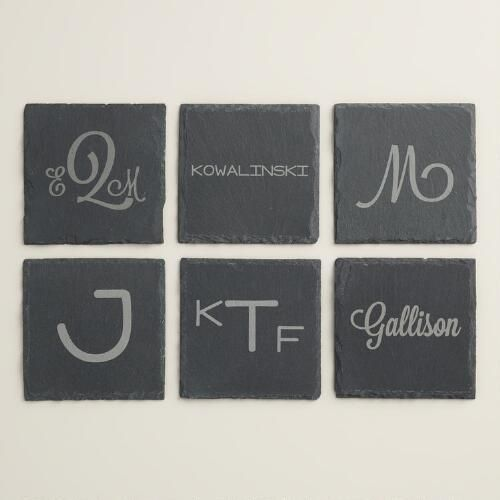 Let's get personal. These monogram coasters from Cost Plus World Market keep your tables free of spots while adding a touch of fun with the monogram design.   Better Homes & Gardens receives a commission for purchases made through the link on this page.