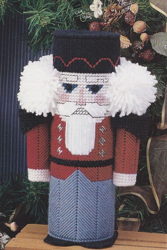 Nutcracker Plastic Canvas Pattern Christmas Centerpiece