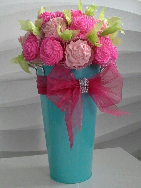 Cupkake  bouquet de fleurs !  Et c'est moi qui l'a fait!♡