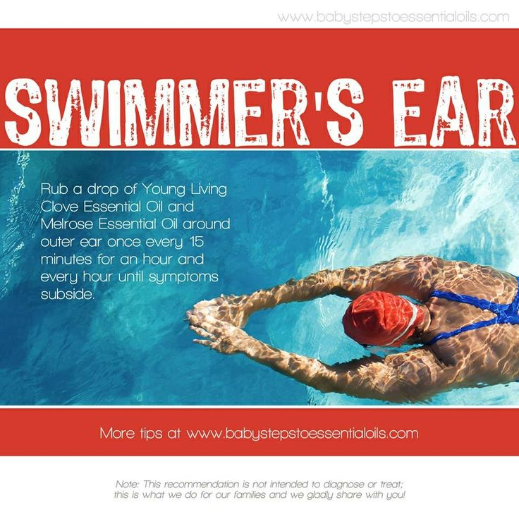 Young living essential oils swimmer 39 s ear clove and melrose thank you for Can swimming pools cause ear infections