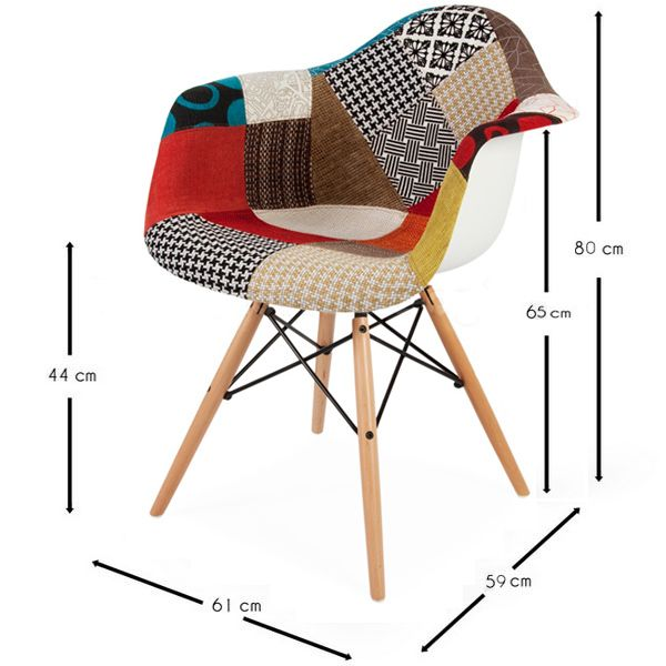 Chaise patchwork xl style sweet home pinterest for Chaise eams patchwork