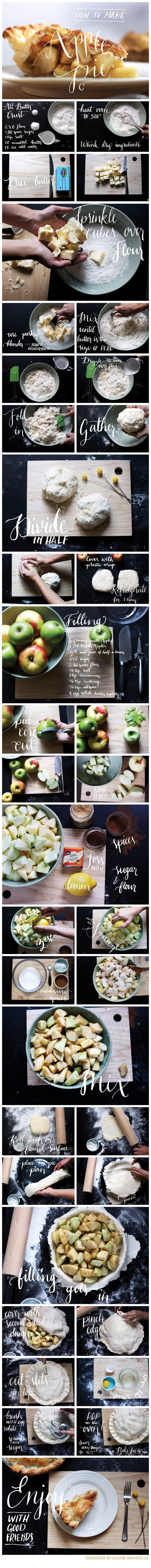 How to Make Apple Pie- An Infographic by Louise Swindells, via Behance