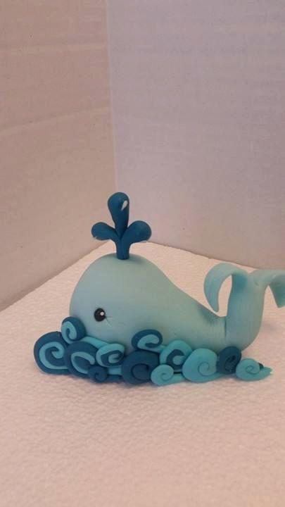 Baby balena Edible Cake Topper