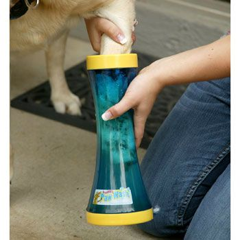 Just clean your dogs paws so as not to track in mud  and gunk this winter #pocatellopetlodge
