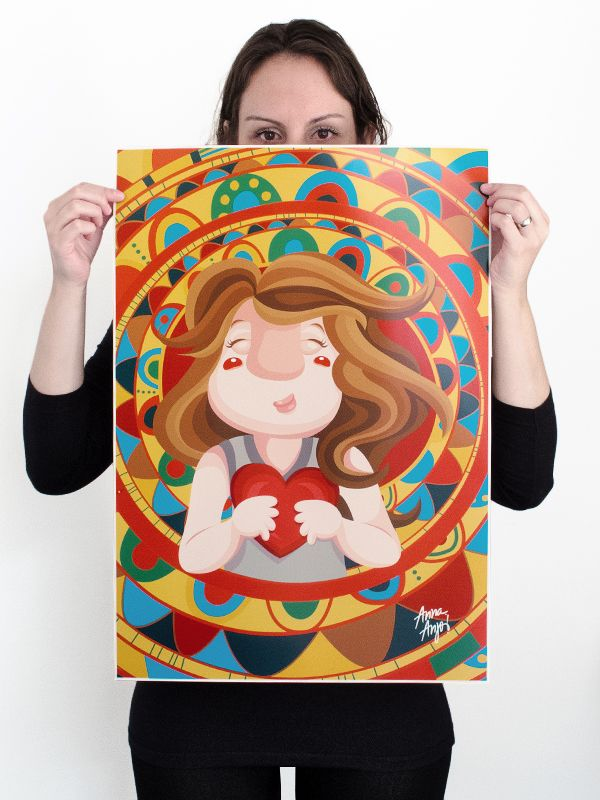"""Poster """"Corazón"""", 600mm x 420mm, semiglossy paper 190g. For sale at: www.annaesoma.tanlup.com"""