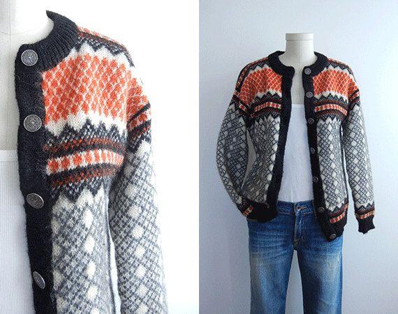 Vintage Nordic Wool Fair Isle Cardigan Sweater / by zestvintage