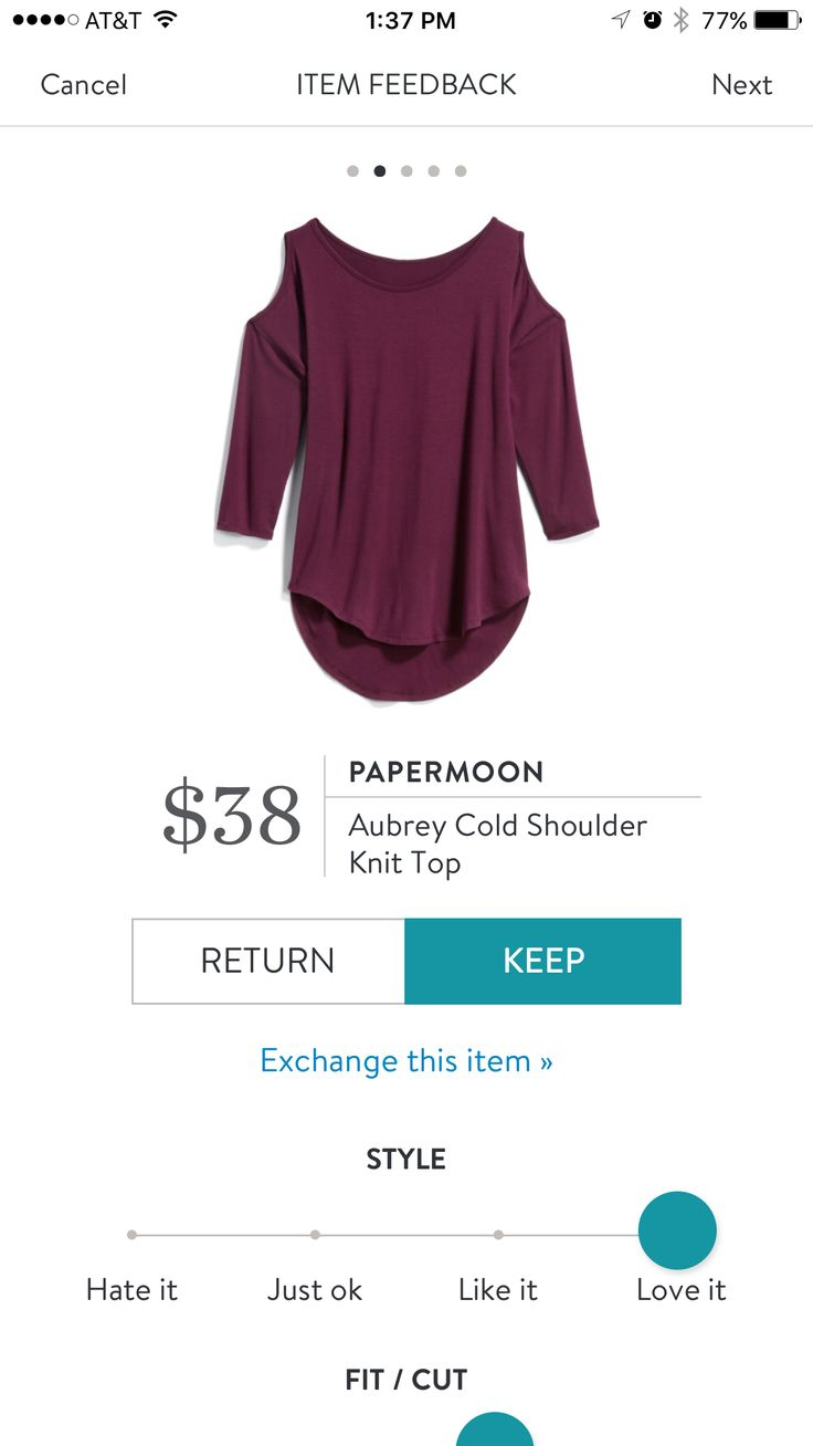 StitchFix 10/26/17....I would try the cold shoulder in this burgundy top. The cutouts aren't too big and I can wear a normal bra with the top.