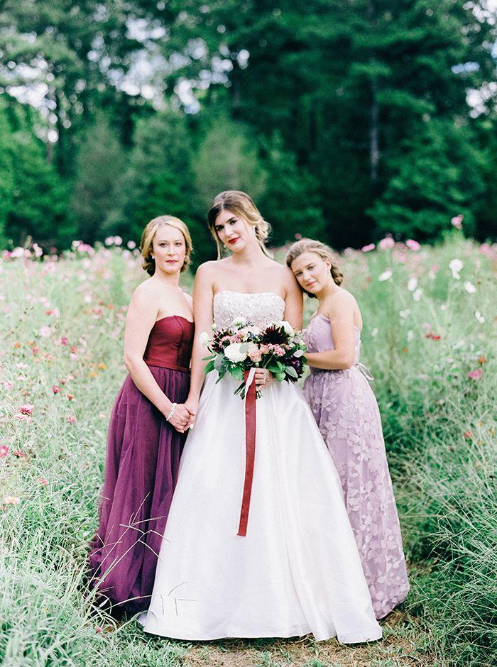 Luxe Jewel Tone Bridesmaid Dresses for a Regal Garden Wedding    #AisleSociety #ad #ASforDB #DBMaids #DavidsBridal #OlegCassini #wedding #weddingday #weddingdress