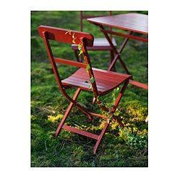 MÄLARÖ Stuhl/außen - klappbar rot - IKEA