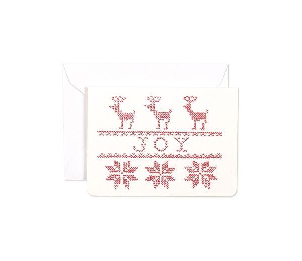 Stitched Joy Mini Card by Gotamago