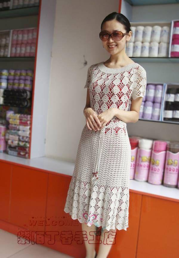 crochet charming dress for girl | make handmade, crochet, craft