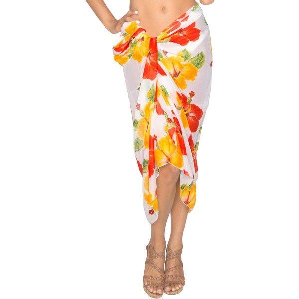 La Leela Swim Beachy Spring/Summer Dress Wrap Cover up Kimono Sarong... ($17) ❤ liked on Polyvore featuring swimwear, cover-ups, red, beach cover up kimono, beach wrap sarong, beach kimono, red kimono and swimming cover ups