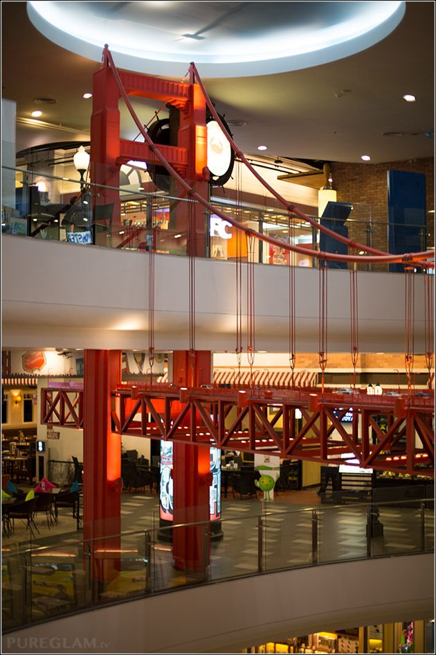 Golden gate bridge at Terminal 21 Bangkok – the new shopping temple - european feeling at this huge mall - Bangkok, Thailand - next to Sheraton Grande Sukhumvit Hotel