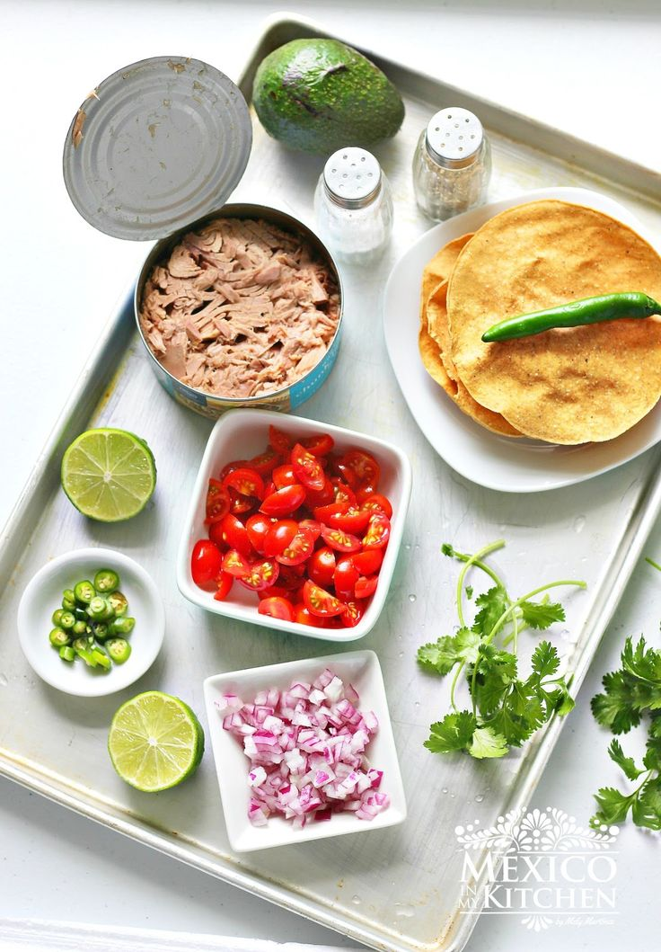 Mexico in my Kitchen: Canned Tuna Ceviche Tostadas|Authentic Mexican Food Recipes Traditional Blog