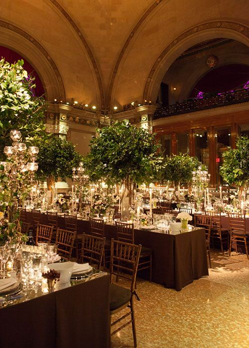 Tables with Tall Trees   Brides.com