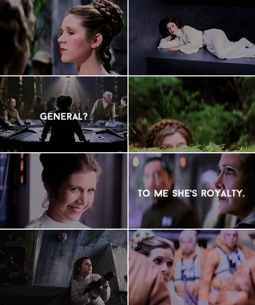 Leia: Well she certainly is that.  #starwars