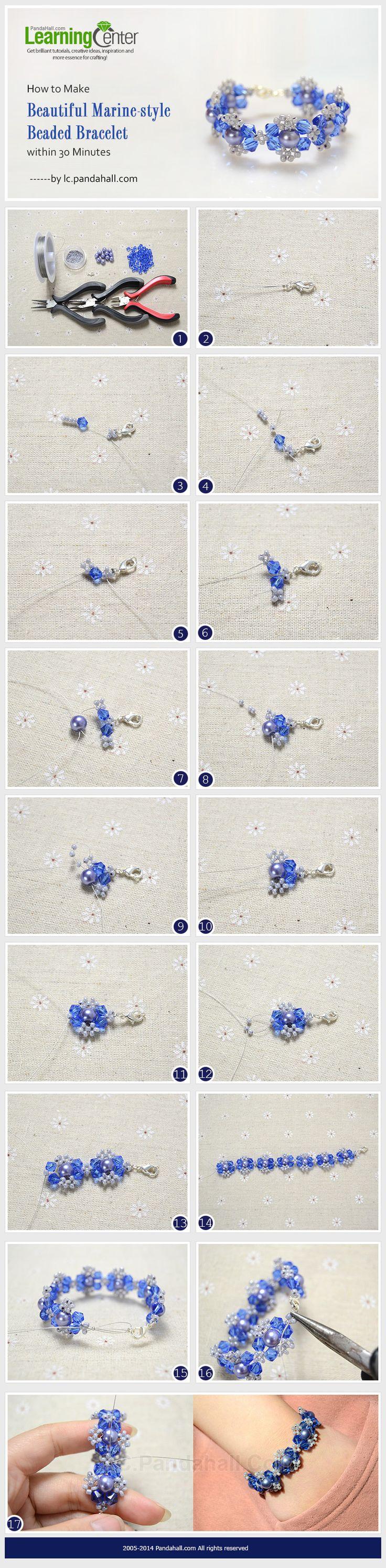 How to Make Beautiful Marine-style Beaded Bracelet within 30 Minutes