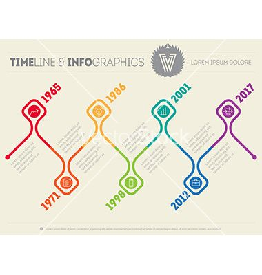 Horizontal infographic timelines web template for vector on VectorStock