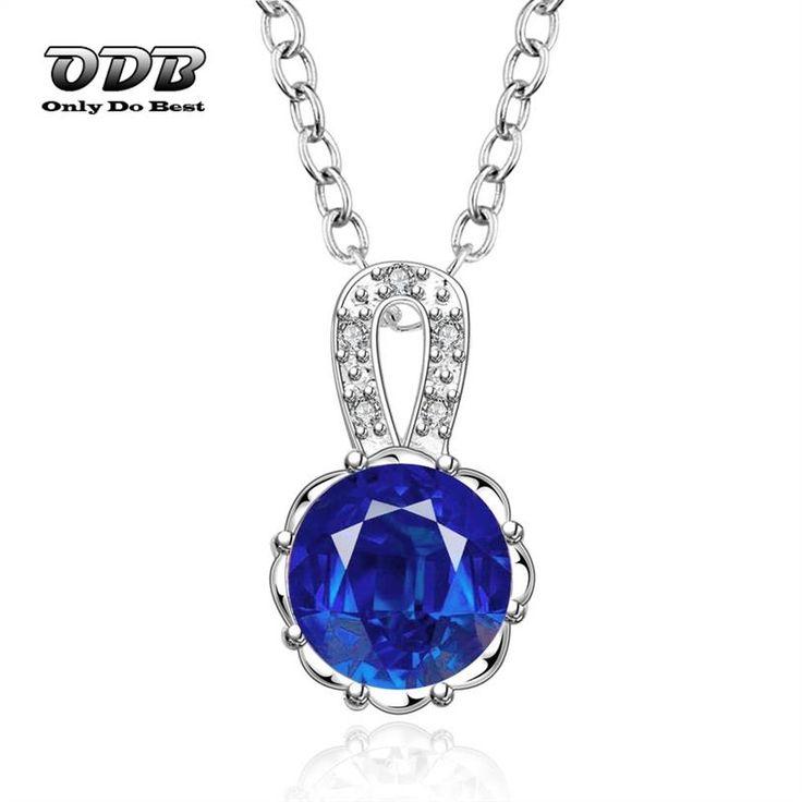 Купить Женщины Ожерелье Сапфир Ювелирные Изделия Стерлингового Серебра 925…