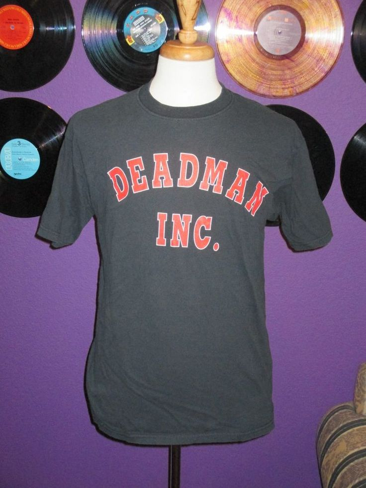 WWF Wrestling The Undertaker Deadman Inc. Men's Shirt Large WWE VINTAGE HTF OOP #WWF
