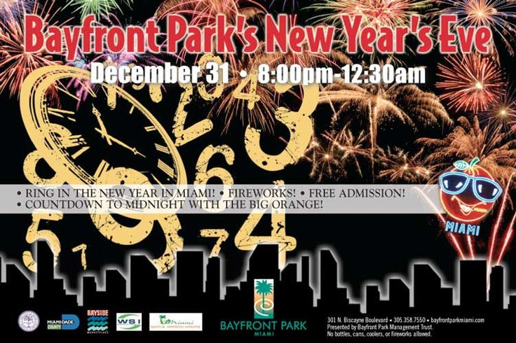 New year 2015 at bayfront park miami miami park south