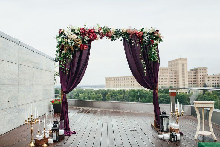 wedding arch, wedding ceremony, marsala, wedding flowers, wedding decor,выездная церемония, оформление свадьбы, свадебная флористика, свадебный декор