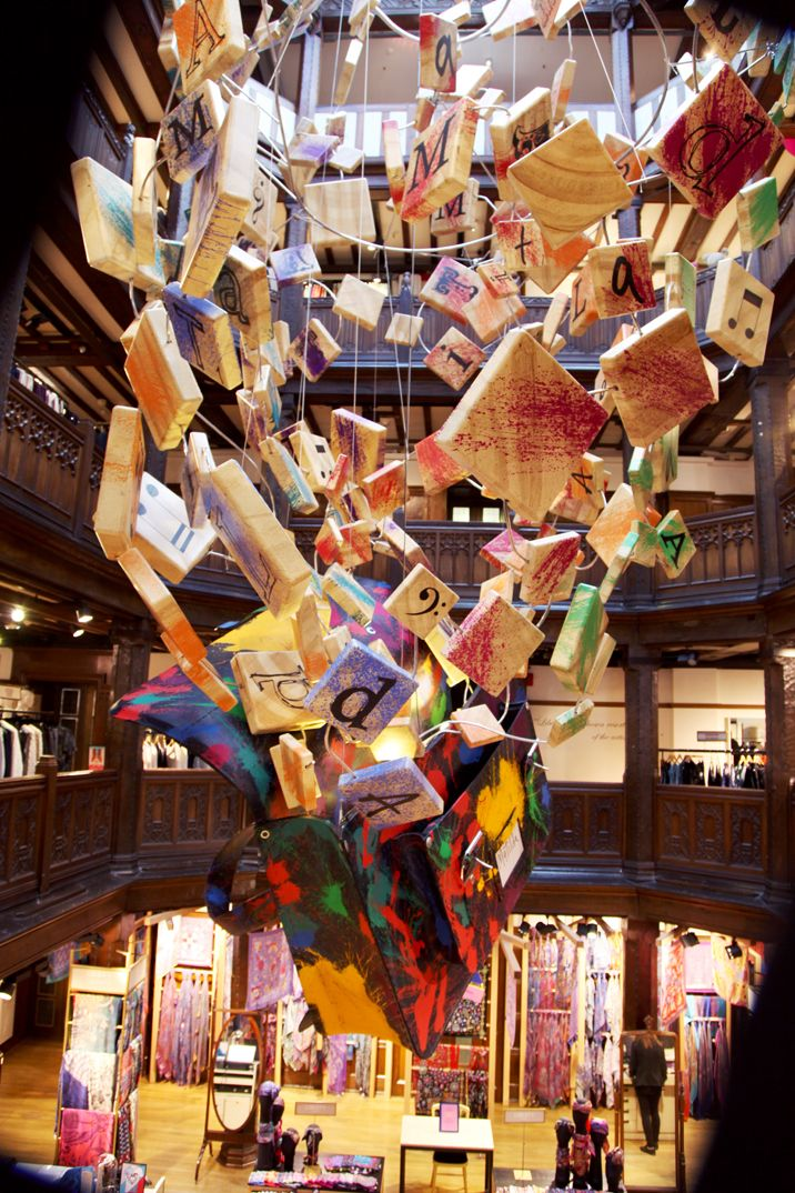 Step inside the Central Atrium of our Regent Street store this season be greeted by the most wonderfully imaginative and impressive installation. We have teamed up with The Royal Shakespeare Company's production of Roald Dahl's Matilda The Musical, specially for the festive season. The production's Olivier and Tony award-winning set designer, Rob Howell, has created a spectacular installation to mark our unique collaboration.