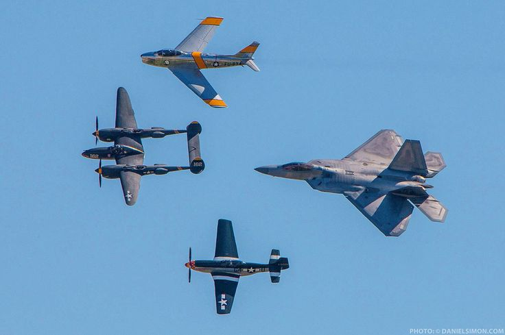Air show showcasing fighters through the ages!  Photo by: Daniel Simon
