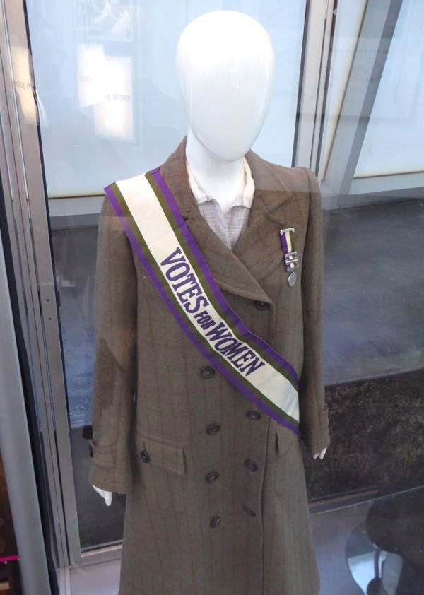 Edith Ellyn Suffragette film costume - the lapel pin