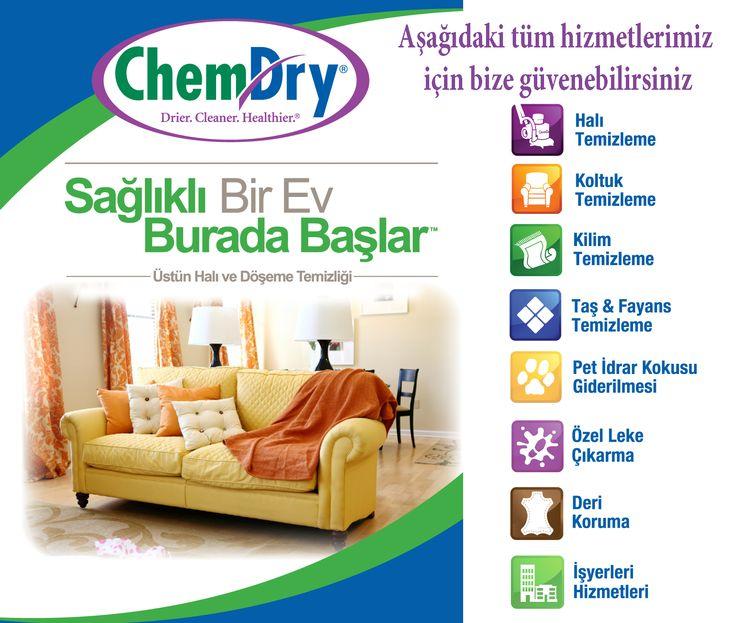 Chem-Dry Profesyonel Halı ve Koltuk Yıkama Hizmeti, sağlıklı bir ev için Chem-Dry'a güvenebilirsiniz. #halıyıkama www.chemdry.com.tr