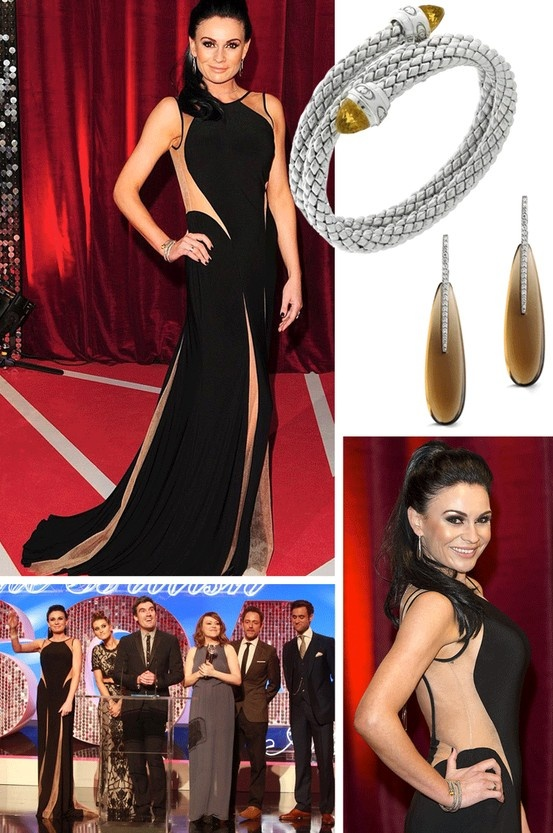 Lucy Pargeter at the 2013 British Soap Awards wearing Chimento jewellery from Phillip Stoner's Victoria Quarter boutique in Leeds